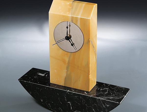 Orologio-5 Marble Clock, Architect David Palterer Design
