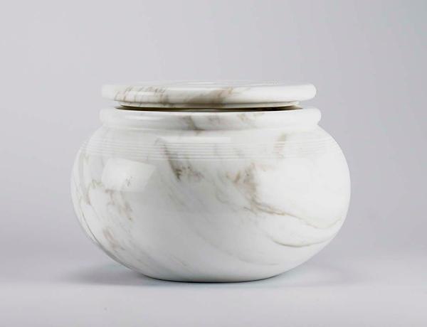 contenitore in marmo bianco