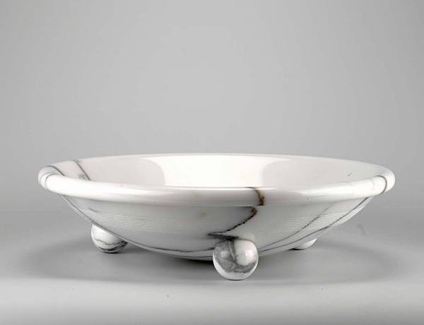 Portafrutta in marmo bianco Designer Sergio Asti