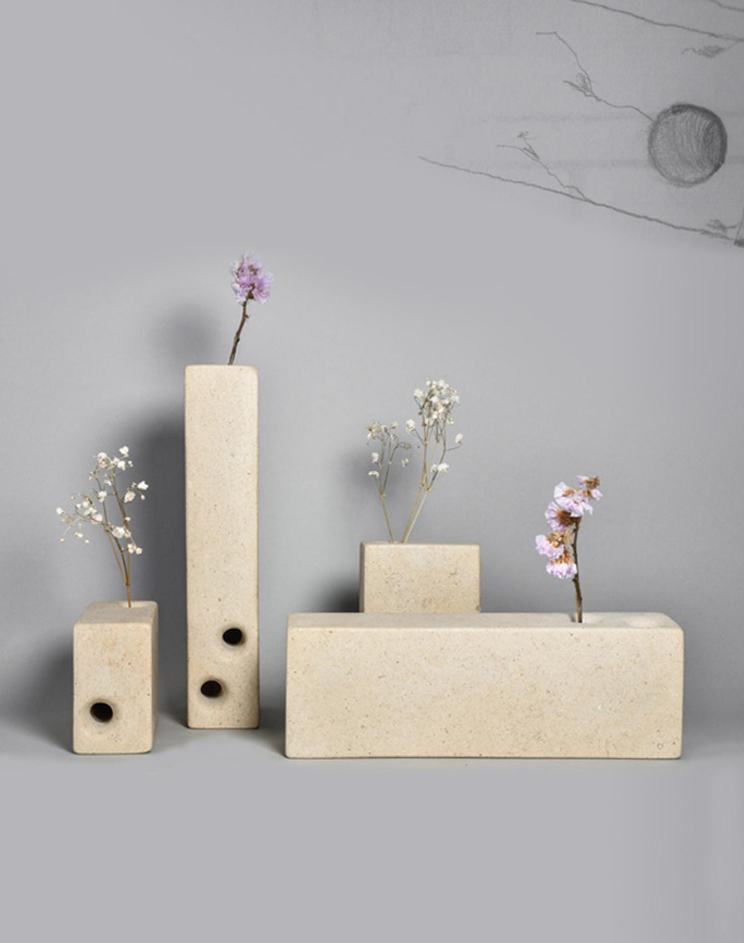 lego - vasi da fiori in marmo